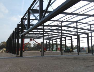 steel structure is put in place