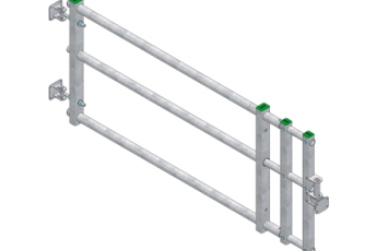 Spinder's extendable cow traffic gate Slider