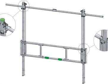 Draw-up gate heavy duty: lift